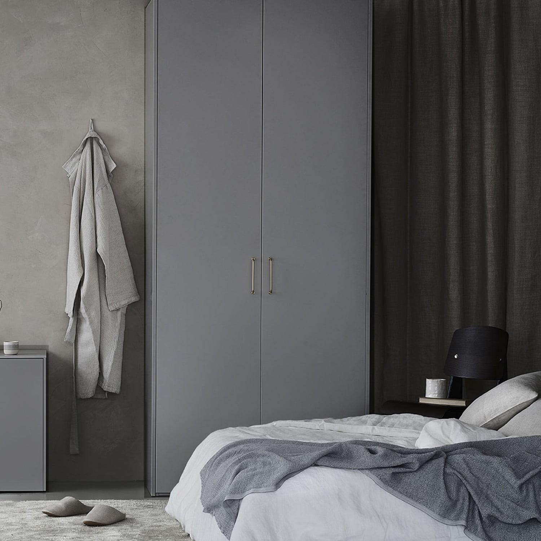 IKEA PAX -järjestelmä kätkee vaatteet tyylillä